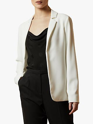 Ted Baker Kayete Longline Straight Fit Blazer, Ivory
