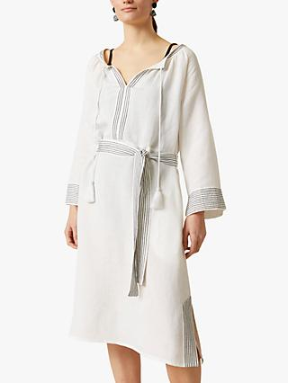 Jigsaw Liya Belted Midi Dress, White