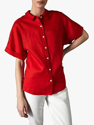 Jigsaw Short Sleeve Linen Shirt
