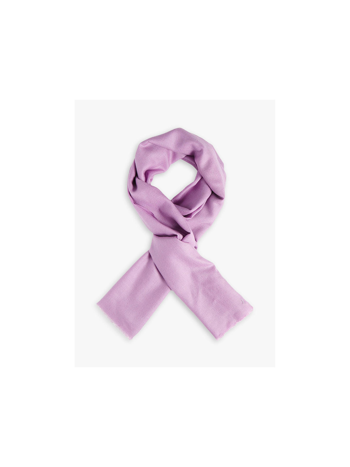 Buy Jigsaw Wool and Silk Pashmina Scarf, Foxglove Online at johnlewis.com