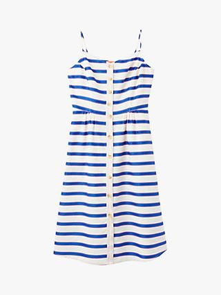Joules Abby Stripe Print Sleeveless Dress, Blue/Cream