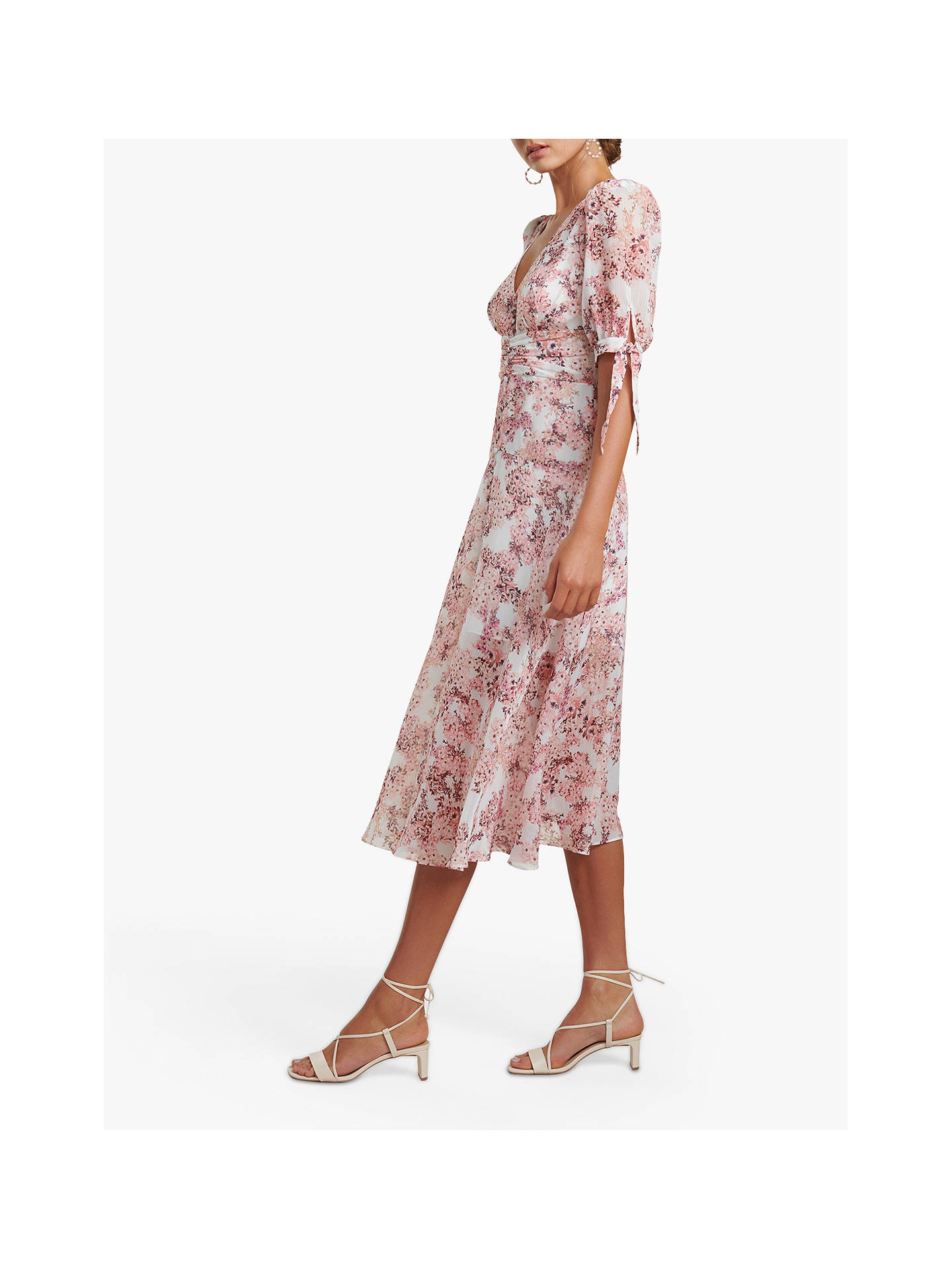 Buy Forever New Sadie Floral Midi Dress, Strawberry Fields, 6 Online at johnlewis.com