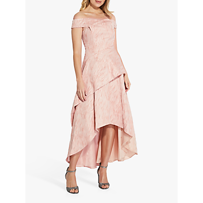 Product photo of Adrianna papell textured draped gown blush
