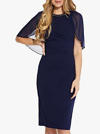 Adrianna Papell Chiffon Mini Dress, Navy