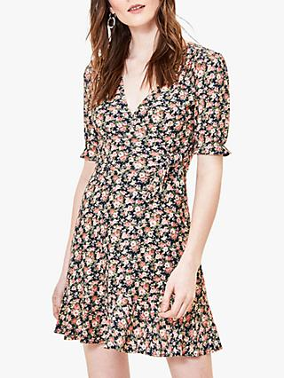 Oasis Ditsy Rose Mini Dress, Multi