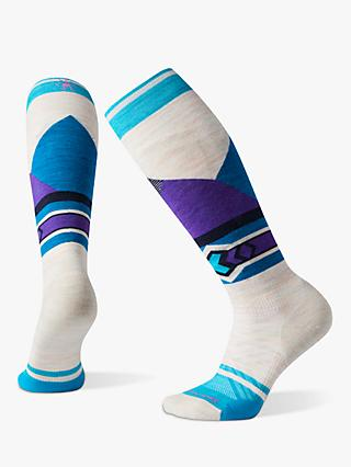 SmartWool PhD Light Elite Pattern Women's Ski Socks, Moonbeam