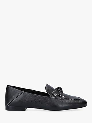 MICHAEL Michael Kors Ripley Leather Bow Detail Loafers, Black