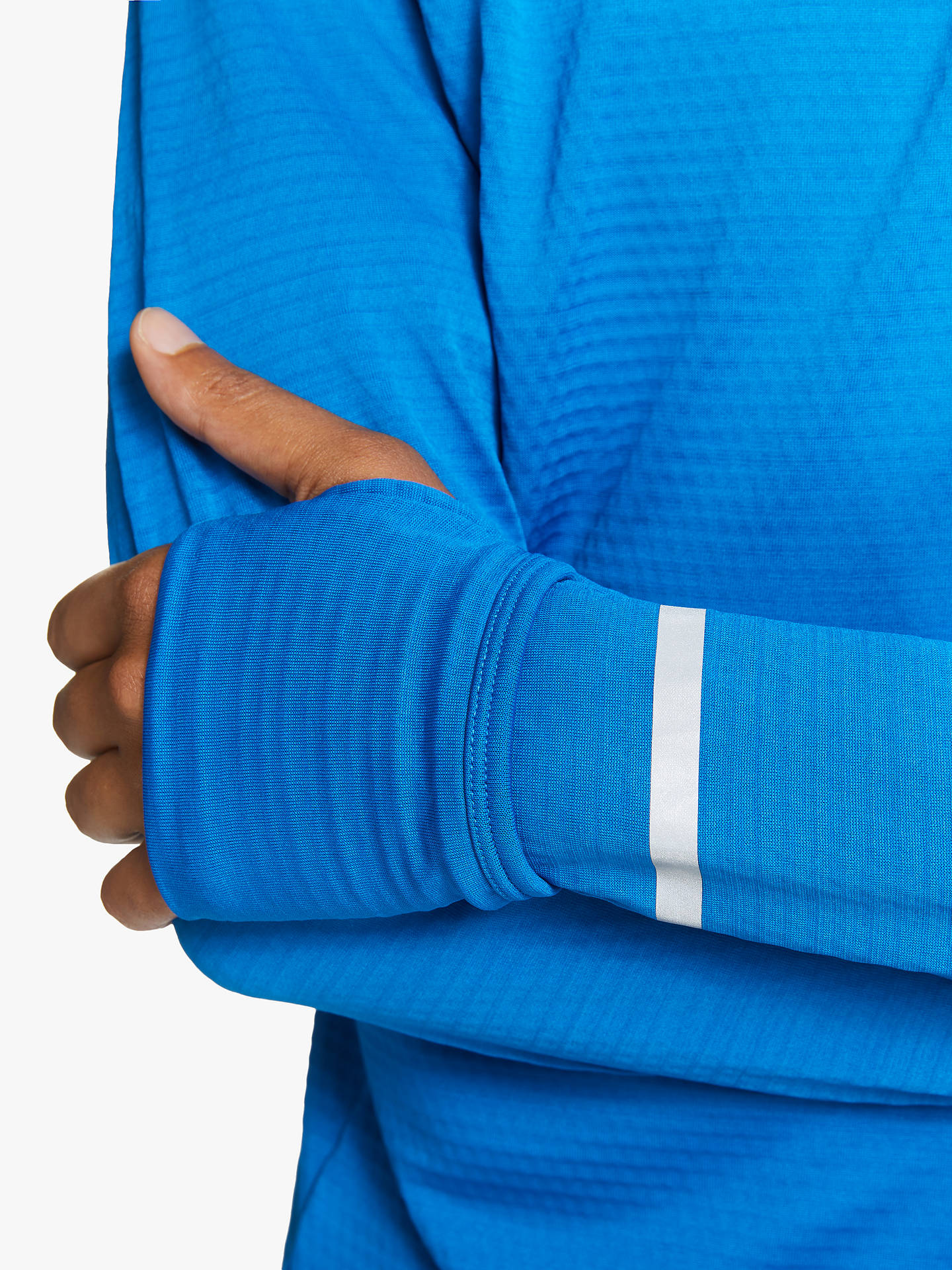 Buy Ronhill Tech Matrix 1/2 Zip Long Sleeve Running Top, Atlantic/Powder Grey, S Online at johnlewis.com
