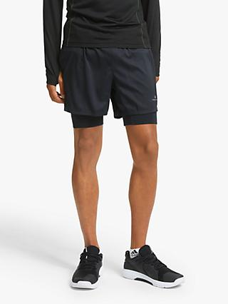 "Ronhill Tech Revive Twin 5"" Running Shorts, All Black"