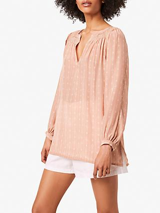 French Connection Almedi Abstract Top, Blushed Tan