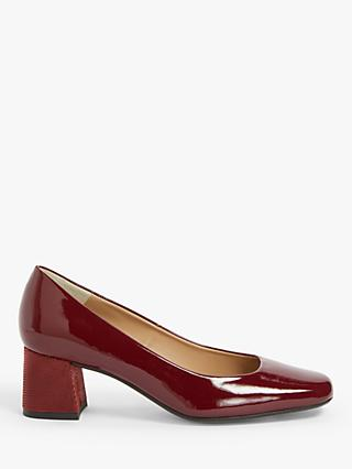 John Lewis & Partners Amanda Patent Leather Court Shoes, Red