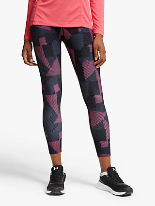 Ronhill Life Cropped Running Tights, Black/Hot Pink Laser