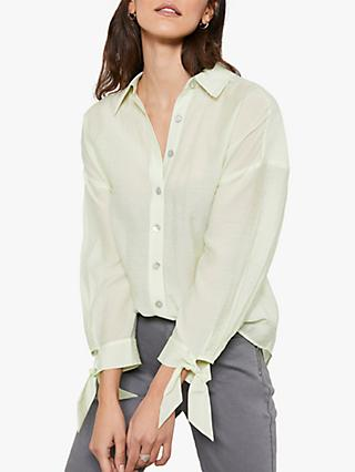 Mint Velvet Tie Shirt, Pale Green