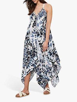 Mint Velvet Alma Abstract Maxi Dress, Blue
