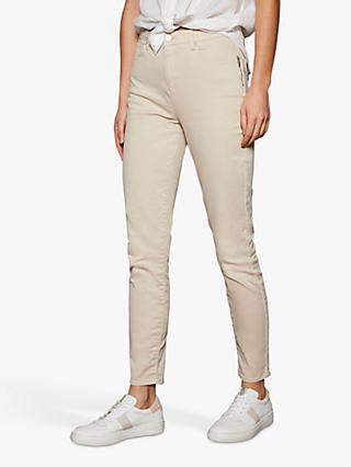 Mint Velvet Orlando Cropped Jeans, Cream