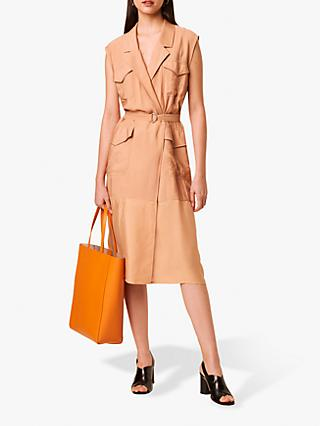 French Connection Brekhna Wrap Safari Dress, Blushed Tan