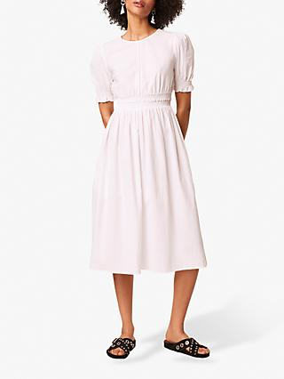 French Connection Seersucker Smock Sundress, White