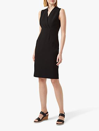 Hobbs Sabrina Knee Length Dress, Black