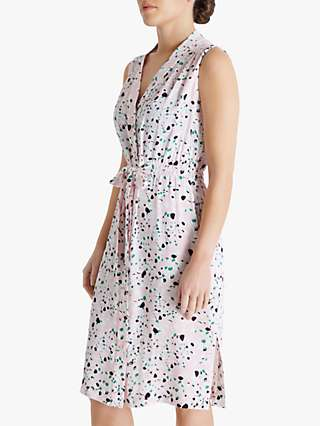 Fenn Wright Manson Petite Caillou Abstract Midi Dress, Terrazzo Blush