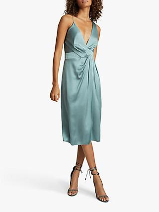 Reiss Charlie Midi Dress, Pale Blue