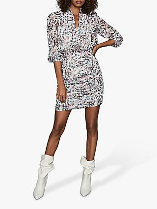 Reiss Dakota Floral Mini Dress, Ivory