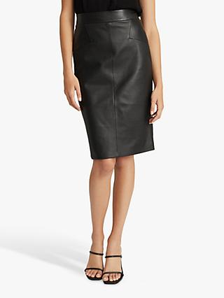 Reiss Reagan Leather Pencil Skirt
