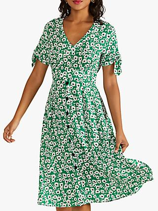 Yumi Vintage Floral Midi Dress, Green