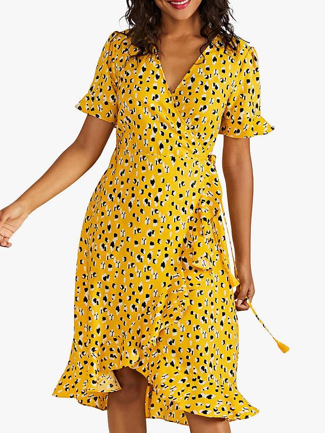 Yumi Animal Print Dash Dress Yellow At John Lewis Amp Partners
