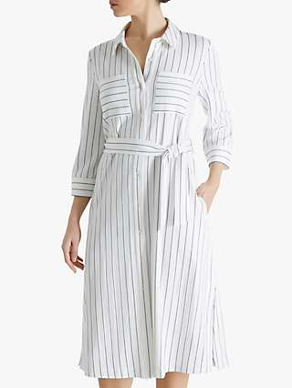Fenn Wright Manson Riva Striped Shirt Dress, Ivory