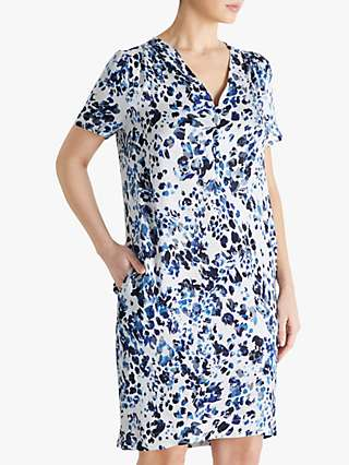 Fenn Wright Manson Estelle Dress, Blue Animal Print