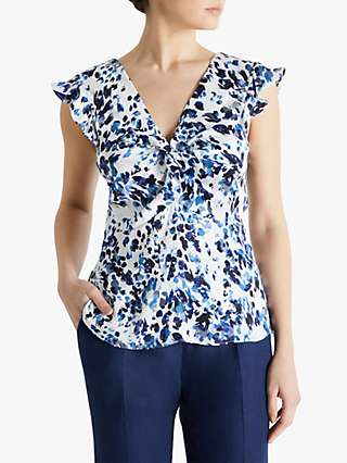 Fenn Wright Manson Estelle Top, Blue Animal Print
