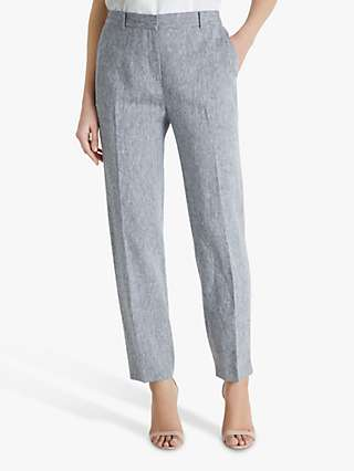 Fenn Wright Manson Marcelle Linen Trousers, Black/Ivory