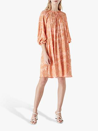 Finery Desiree Mini Dress, Orange/Multi