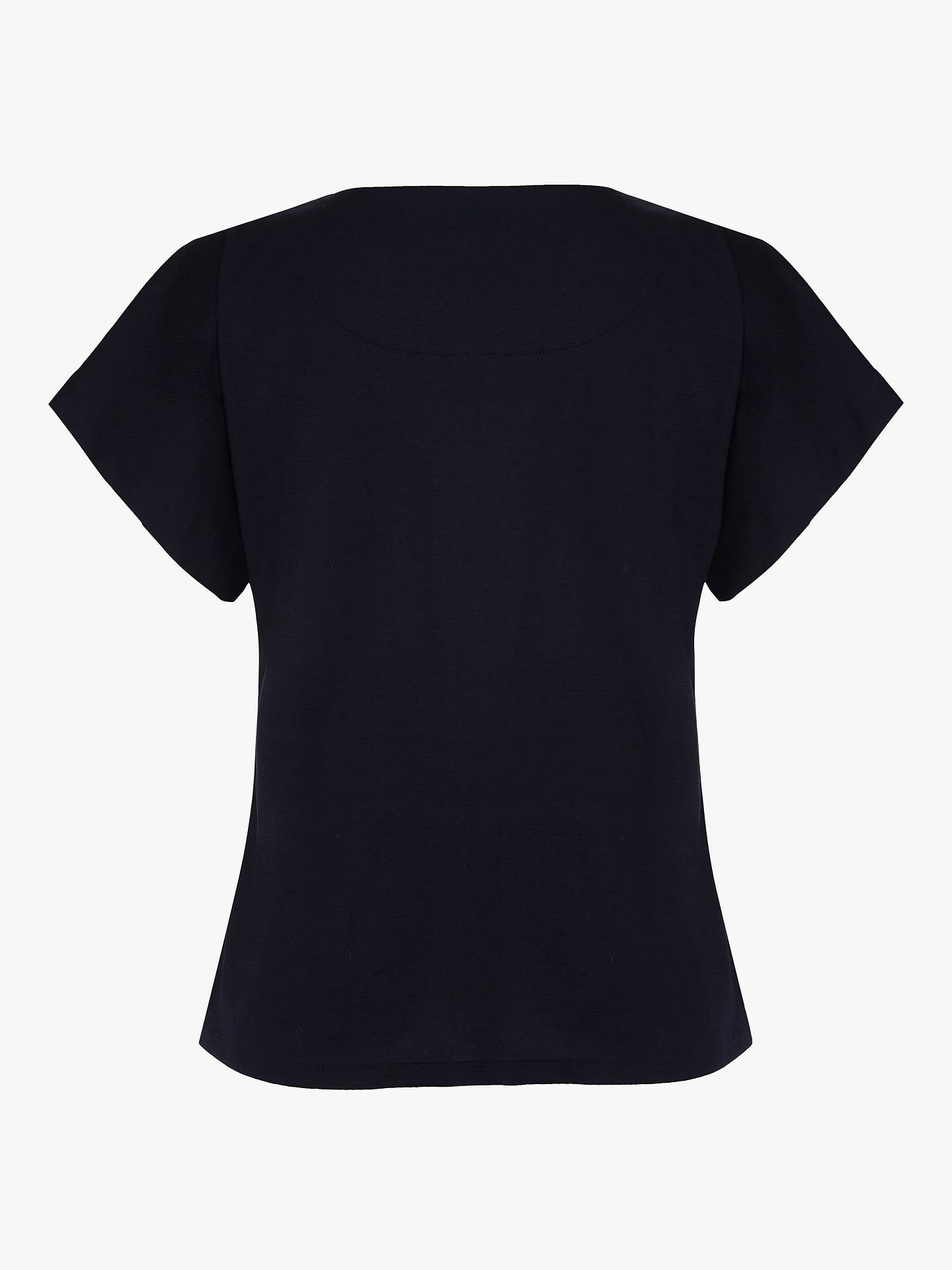 Buy Finery Lois Front Stitch Jersey Top, Navy, 8 Online at johnlewis.com