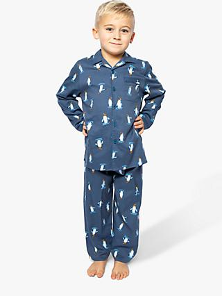 Cyberjammies Boys' Penguin Print Pyjamas, Navy