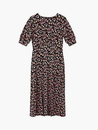 Oasis Rose Print Midi Dress, Multi
