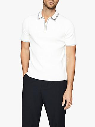 Reiss Stetson Short Sleeve Regular Fit Knitted Polo Shirt