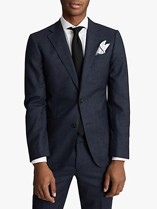 Reiss Dunn Textured Slim Fit Suit Jacket, Navy
