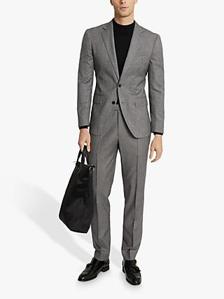 Reiss Ben Single Breasted Check Suit Jacket, Black/Neutral