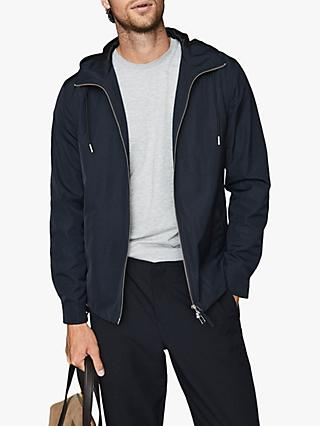 Reiss Zenif Lightweight Hooded Jacket, Navy