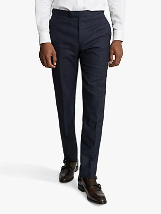 Reiss Dunn Textured Slim Fit Suit Trousers, Navy