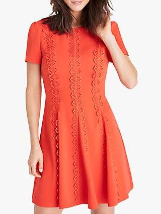 Damsel in a Dress Tavi Lace Detail Mini Dress, Orange