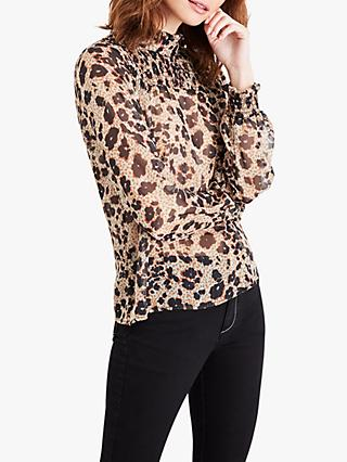 Damsel in a Dress Vanity Animal Print Ruched Blouse, Multi