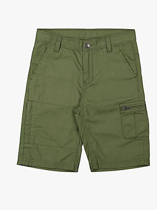 Polarn O. Pyret Children's GOTS Organic Cotton Cargo Shorts, Olive