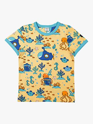 Polarn O. Pyret Children's GOTS Organic Cotton Deep Sea Adventure T-Shirt