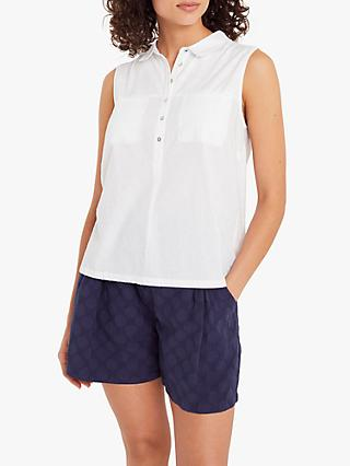 White Stuff Sugar Spoon Sleeveless Jersey Shirt, White