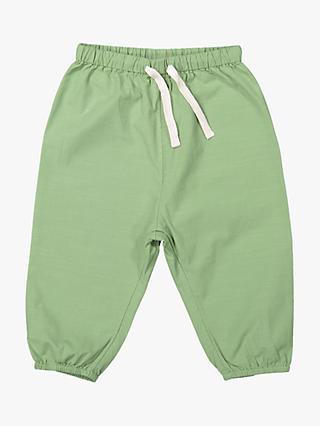 Polarn O. Pyret Baby GOTS Organic Cotton Woven Trousers, Green