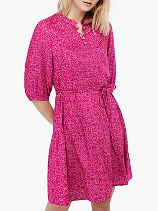 Monsoon Manilla Floral Print Tunic Dress, Pink