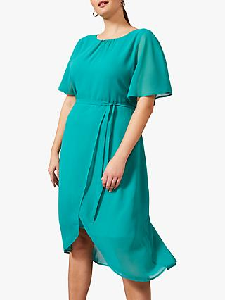 Studio 8 Darlene Tie Waist Dress, Turquoise