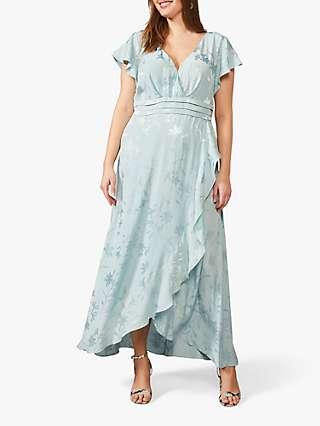 Studio 8 Rosie Floral Print Maxi Dress, Pale Blue
